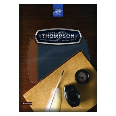 BIBLIA RVR1960 THOMPSON EDICION ESPECIAL AZUL/CAFE