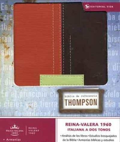 BIBLIA RVR60 THOMPSON PERS MARRON/TERRACOTA