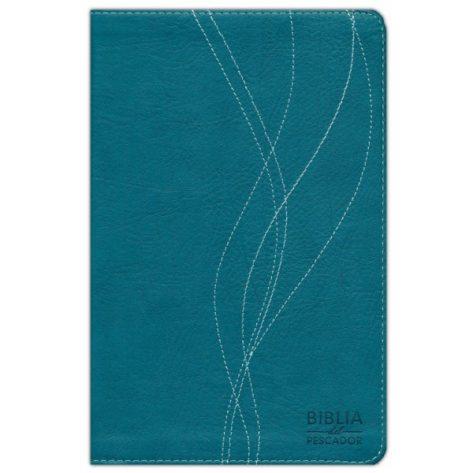 BIBLIA DEL PESCADOR RVR60 SIMIL PIEL AZUL PETRÓLEO