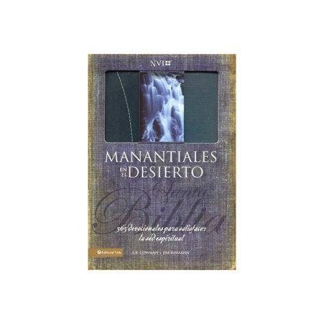 BIBLIA DEVOCIONAL MANANTIALES EN EL DESIERTO NVI, PIEL