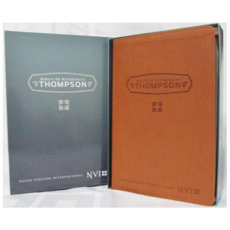 Biblia de Estudio Thompson NVI en Piel Italiana