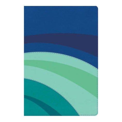 B. RVR60 De Estudio Arco Iris Símil Piel color Azul Eléctrico/Celeste/Turquesa.