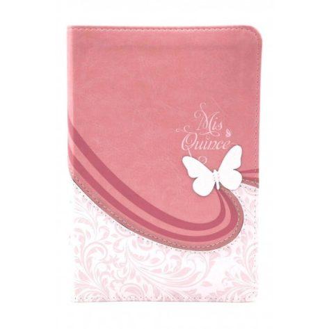 B. RVR60 Mis quince simil piel color rosa y blanco