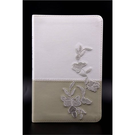 B. RVR60 Simil piel recuerdo de boda blanco/lino/encaje