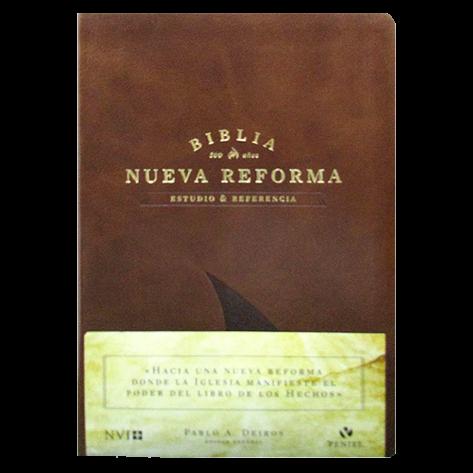 Biblia de la Reforma Edición Especial de Piel en color Miel
