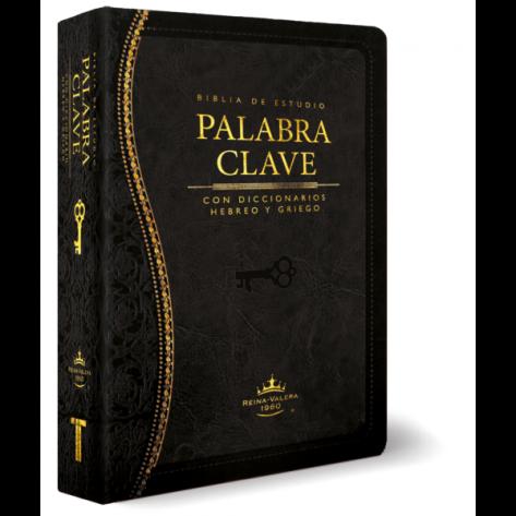 Biblia de Estudio Palabra Clave de Piel color Negro