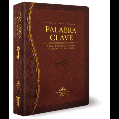 Biblia de Estudio Palabra Clave de Piel color Marron