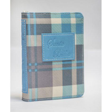 B. RVR60 Bolsillo Azul- Gris cuadros C/ Cierre