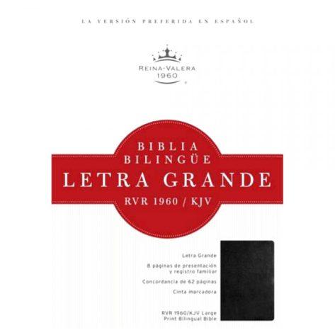 BiBLIA BILINGUE LETRA GRANDE NEGRA C/INDICE