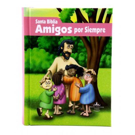 BIBLIA AMIGOS POR SIEMPRE RV60 ROSA