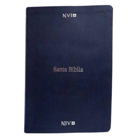 BIBLIA NVI/NIV BILINGUE AZUL IMITACION CUERO