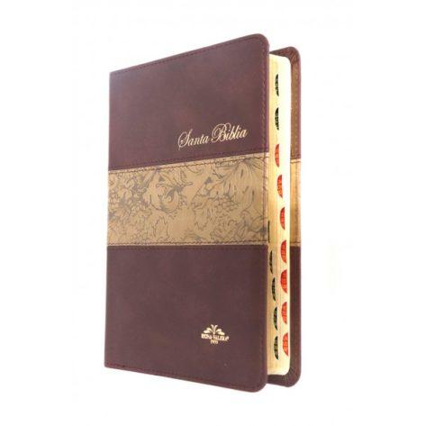 BIBLIA RVR 1909 MEDIANA IMIT PIEL NEGRA CON ÍNDICE