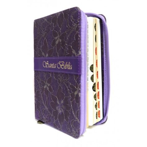 BIBLIA RV09 CHICA CIERRE/INDICE LILA