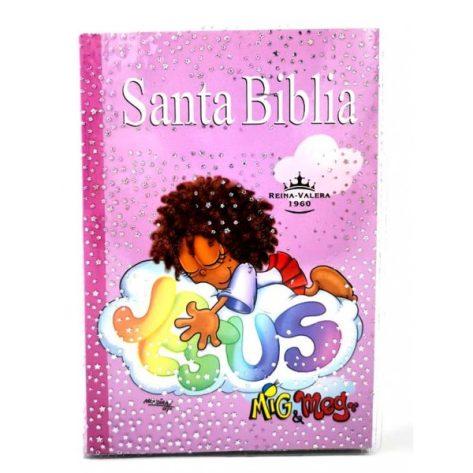 BIBLIA RVR 040E MISIONERA ROSA NIÑA