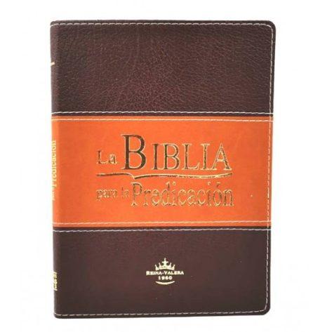 BIBLIA RVR1960 DE LA PREDICACION MARRON CON INDICE