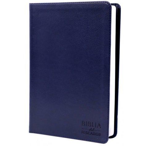 BIBLIA RV60 DEL PESCADOR LETRA GRANDE AZUL SIMIL PIEL