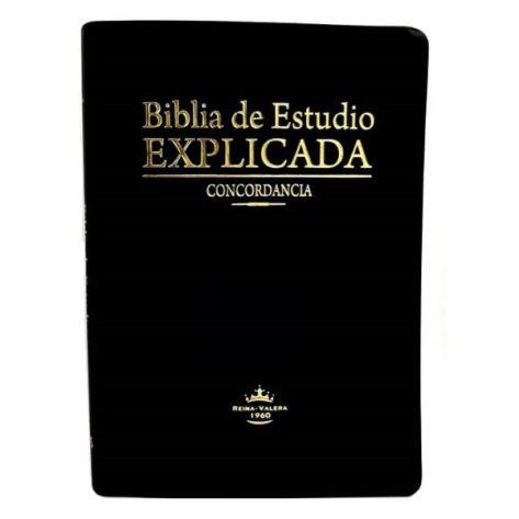 BIBLIA RVR60 ESTUDIO EXPLICADA PIEL NEGRO INDICE