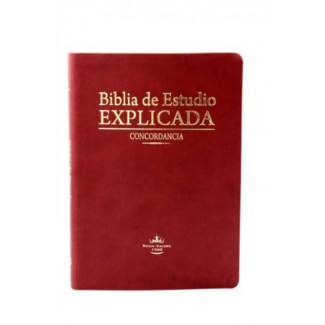 BIBLIA RVR60 ESTUDIO EXPLICADA PIEL MARRON CLARO INDICE