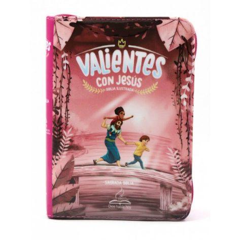 BIBLIA DHH VALIENTES CON JESUS ROSA
