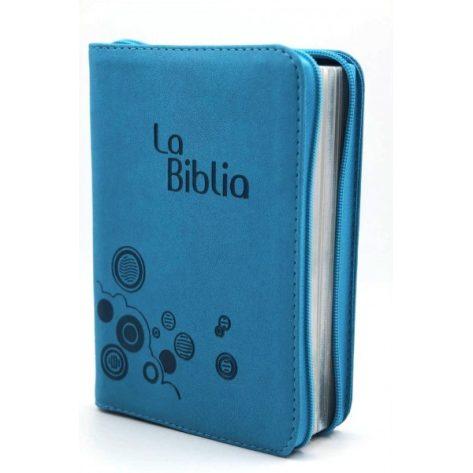 BIBLIA TLA MEDIANA CIERRE LG VERDE AGUA